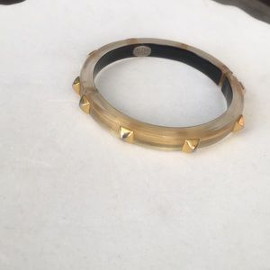 Alexis Bittar gold hinged lucite braclet